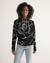 Load image into Gallery viewer, Dwayne Elliott Collection Black Rose Women's Hoodie - Dwayne Elliott Collection
