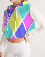 Load image into Gallery viewer, Dwayne Elliott Collection Cotton Candy Women's Cropped Hoodie - Dwayne Elliott Collection