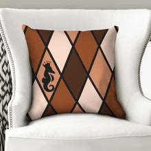 "Load image into Gallery viewer, Dwayne Elliott Collection Brown Throw Pillow Case 18""x18"" - Dwayne Elliott Collection"