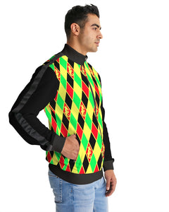 Dwayne Elliott Colection RBG Men's Stripe-Sleeve Track Jacket - Dwayne Elliott Collection