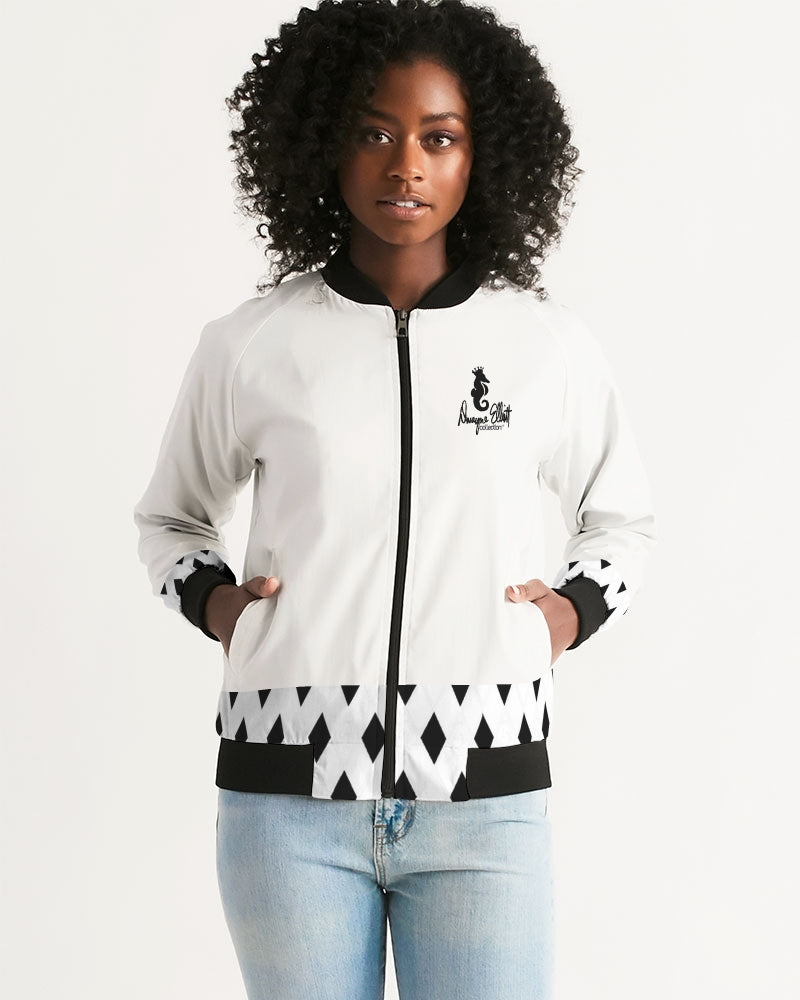 Dwayne Elliott Collection Black Diamond Women's Bomber Jacket - Dwayne Elliott Collection