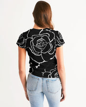 Load image into Gallery viewer, Dwayne Elliot Collection Black Rose Women's Tee - Dwayne Elliott Collection