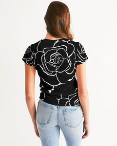 Dwayne Elliot Collection Black Rose Women's Tee - Dwayne Elliott Collection