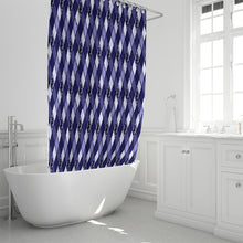 "Load image into Gallery viewer, Dwayne Elliott Collection Argyle Shower Curtain 72""x72"" - Dwayne Elliott Collection"