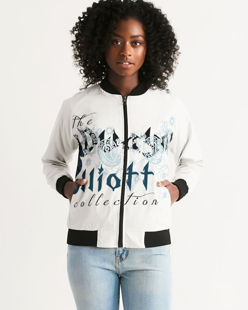 Dwayne Elliott Collection Paisley design Women's Bomber Jacket - Dwayne Elliott Collection