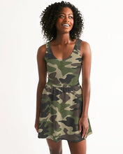 Load image into Gallery viewer, Dwayne Elliott Collection Camo Women's Scoop Neck Skater Dress - Dwayne Elliott Collection