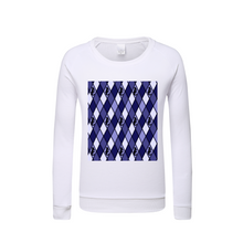 Load image into Gallery viewer, Dwayne Elliott Collection Blue Argyle Kids Graphic Sweatshirt - Dwayne Elliott Collection
