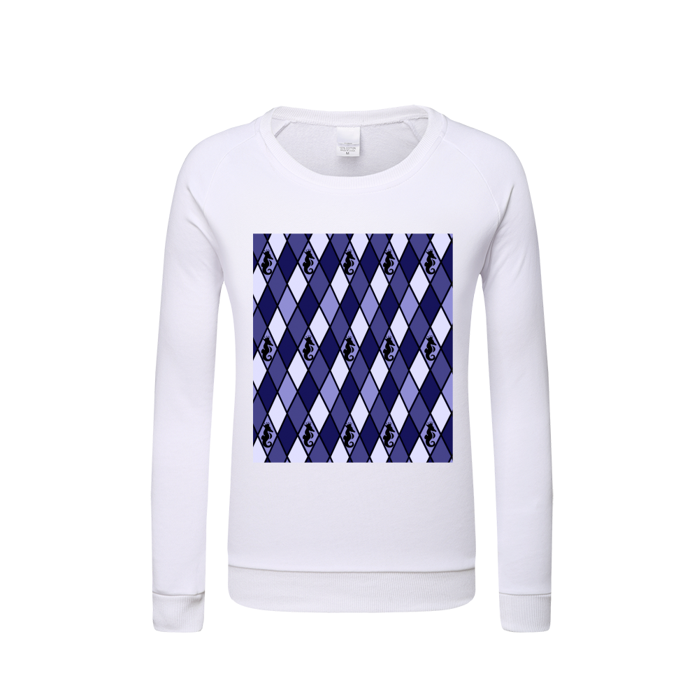 Dwayne Elliott Collection Blue Argyle Kids Graphic Sweatshirt - Dwayne Elliott Collection