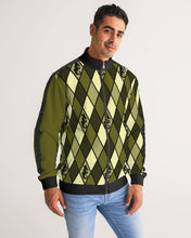 Load image into Gallery viewer, Dwayne Elliott Design Men's Argyle Stripe-Sleeve Track Jacket - Dwayne Elliott Collection