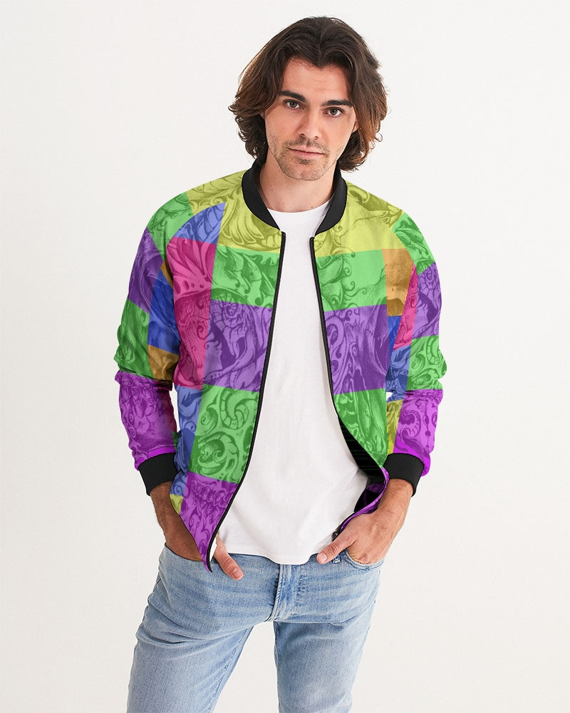 Skull Bow Men's Bomber Jacket