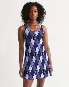 Dwayne Elliott Collection Blue Argyle Women's Racerback Dress - Dwayne Elliott Collection
