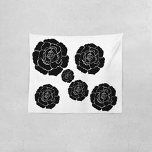"Load image into Gallery viewer, Dwayne Elliot Collection Black Rose Tapestry 60""x51"" - Dwayne Elliott Collection"