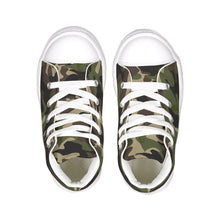 Load image into Gallery viewer, Dwayne Elliott Collection Camo Kids Hightop Canvas Shoe - Dwayne Elliott Collection