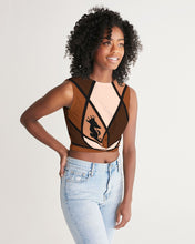 Load image into Gallery viewer, Dwayne Elliott Collection Brown Women's Twist-Front Tank - Dwayne Elliott Collection