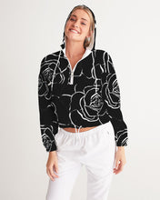 Load image into Gallery viewer, Dwayne Elliott Collection Black Rose Cropped Windbreaker - Dwayne Elliott Collection