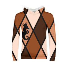 Load image into Gallery viewer, Dwayne Elliott Collection Brown Argyle Kids Hoodie - Dwayne Elliott Collection