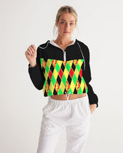 Load image into Gallery viewer, Dwayne Elliott Collection  Argyle Cropped Windbreaker - Dwayne Elliott Collection