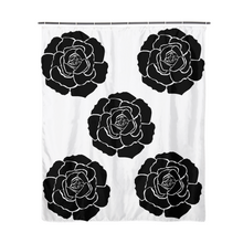 "Load image into Gallery viewer, Dwayne Elliot Collection Black Rose Shower Curtain 72""x72"" - Dwayne Elliott Collection"