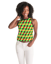 Load image into Gallery viewer, Dwayne Elliott Collection Argyle Cropped Tank - Dwayne Elliott Collection