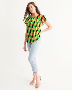 Dwayne Elliott Colection RBG Women's Short Sleeve Chiffon Top - Dwayne Elliott Collection