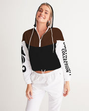Laden Sie das Bild in den Galerie-Viewer, Dwayne Elliott Collection Hoodie Women's Cropped Windbreaker - Dwayne Elliott Collection