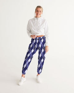 Dwayne Elliott Collection Blue Argyle Women's Track Pants - Dwayne Elliott Collection