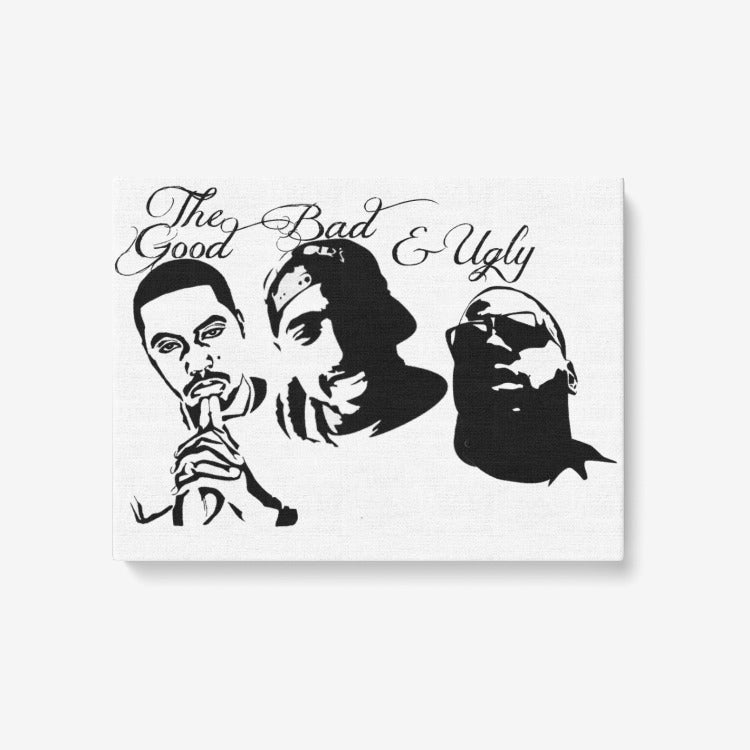 1 Piece Canvas Hip Hop Wall Art - Framed Ready to Hang 24