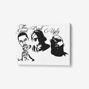 "1 Piece Canvas Hip Hop Wall Art - Framed Ready to Hang 24""x18"" - Dwayne Elliott Collection"