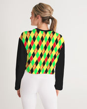 Load image into Gallery viewer, Dwayne Elliott Collection Argyle Cropped Sweatshirt - Dwayne Elliott Collection