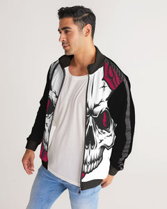 Dwayne Elliott Collection Skull Rose Men's Stripe-Sleeve Track Jacket - Dwayne Elliott Collection