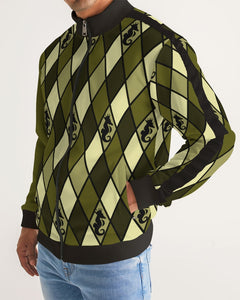 Dwayne Elliott Design Men's Argyle Stripe-Sleeve Track Jacket - Dwayne Elliott Collection