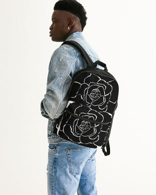 Dwayne Elliot Collection Black Rose Small Canvas Backpack - Dwayne Elliott Collection
