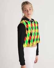 Load image into Gallery viewer, Dwayne Elliott Collection Argyle Cropped Hoodie - Dwayne Elliott Collection