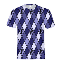 Load image into Gallery viewer, Dwayne Elliott Collection Blue Argyle Kids Tee - Dwayne Elliott Collection