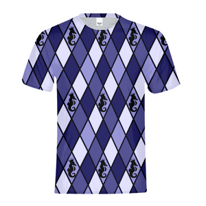 Dwayne Elliott Collection Blue Argyle Kids Tee - Dwayne Elliott Collection