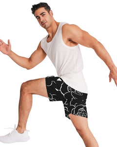Dwayne Elliot Collection Black Rose Men's Jogger Shorts - Dwayne Elliott Collection