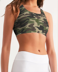 Dwayne Elliott Collection Camo Women's Seamless Sports Bra - Dwayne Elliott Collection