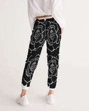Load image into Gallery viewer, Dwayne Elliot Collection Black Rose Women's Track Pants - Dwayne Elliott Collection