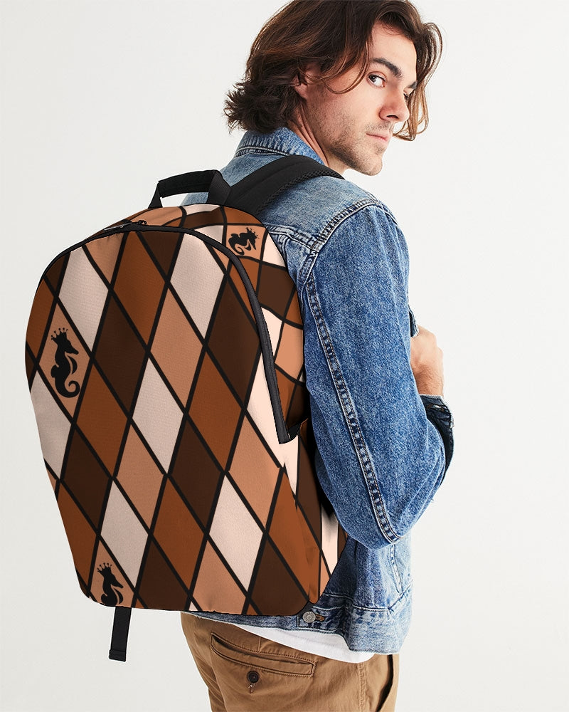 Dwayne Elliott Collection Brown Large Backpack - Dwayne Elliott Collection