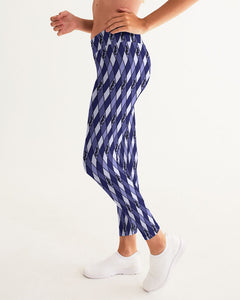 Dwayne Elliott Collection Blue Argyle Women's Yoga Pant - Dwayne Elliott Collection
