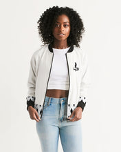 Load image into Gallery viewer, Dwayne Elliott Collection Black Diamond Women's Bomber Jacket - Dwayne Elliott Collection