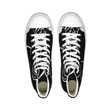 Load image into Gallery viewer, Dwayne Elliot Collection Black Rose Hightop Canvas Shoe - Dwayne Elliott Collection