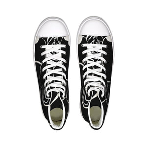 Dwayne Elliot Collection Black Rose Hightop Canvas Shoe - Dwayne Elliott Collection