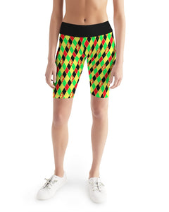 Dwayne Elliott Colection RBG Women's Mid-Rise Bike Shorts - Dwayne Elliott Collection