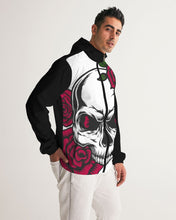 Laden Sie das Bild in den Galerie-Viewer, Dwayne Elliott Collection Skull Rose Men's Windbreaker - Dwayne Elliott Collection