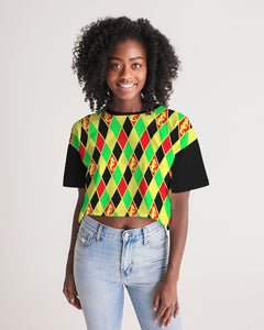 Dwayne Elliott Colection RBG Women's Lounge Cropped Tee - Dwayne Elliott Collection