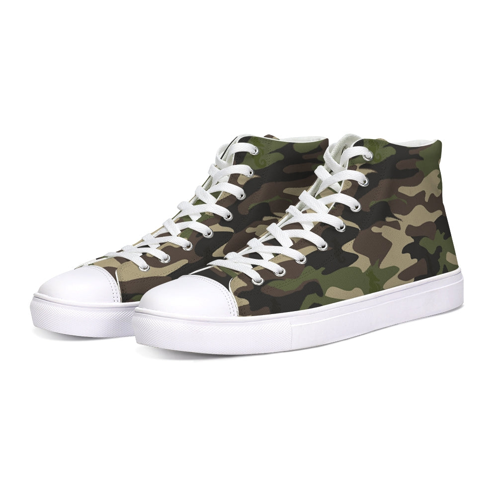 Dwayne Elliott Collection Camo Hightop Canvas Shoe - Dwayne Elliott Collection