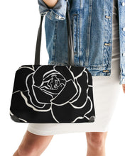Laden Sie das Bild in den Galerie-Viewer, Dwayne Elliot Collection Black Rose Shoulder Bag - Dwayne Elliott Collection