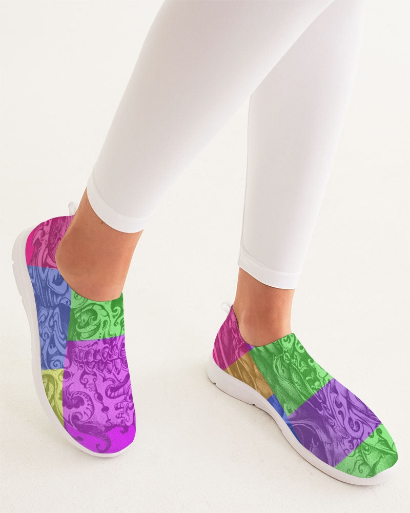 Skull Bow Women's Slip-On Flyknit Shoe