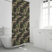 "Load image into Gallery viewer, Dwayne Elliott Collection Camo Shower Curtain 72""x72"" - Dwayne Elliott Collection"